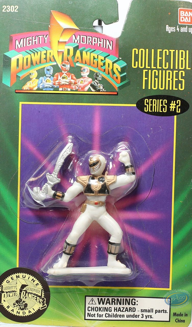 Plastic Figurine, Power Rangers : White ranger