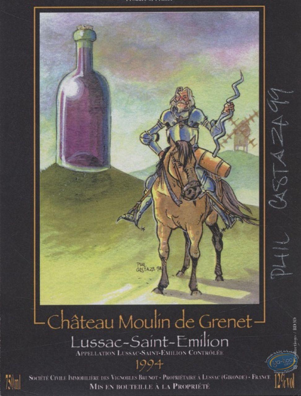 Wine Label, Don Quichotte - Chateau Moulin de Grenet 1994
