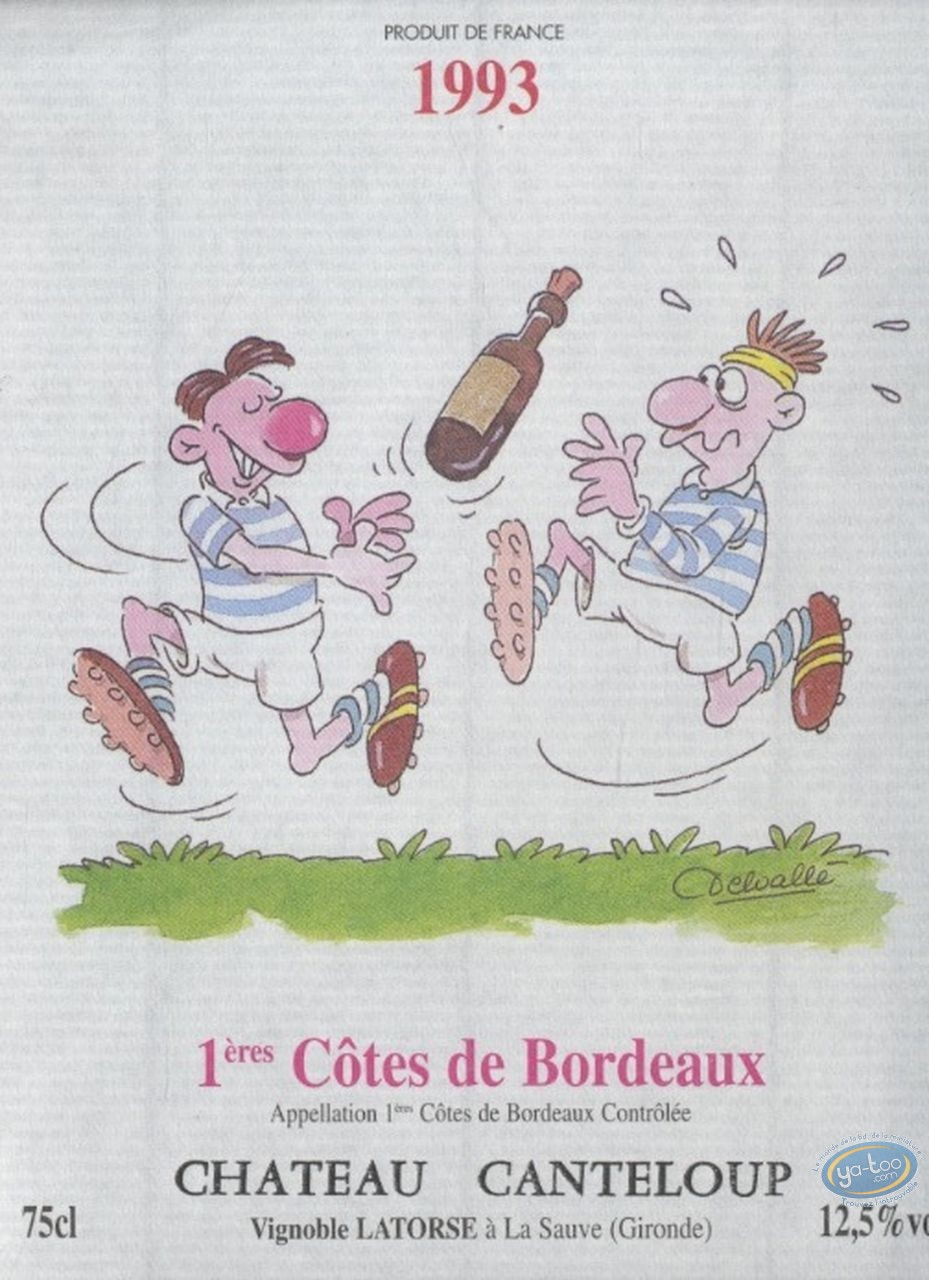 Wine Label, Rugby - Chateau Canteloup 1993