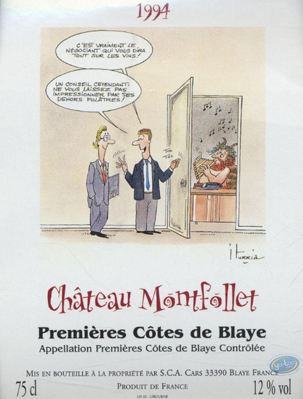Wine Label, Le négociant - Chateau Montfollet 1994
