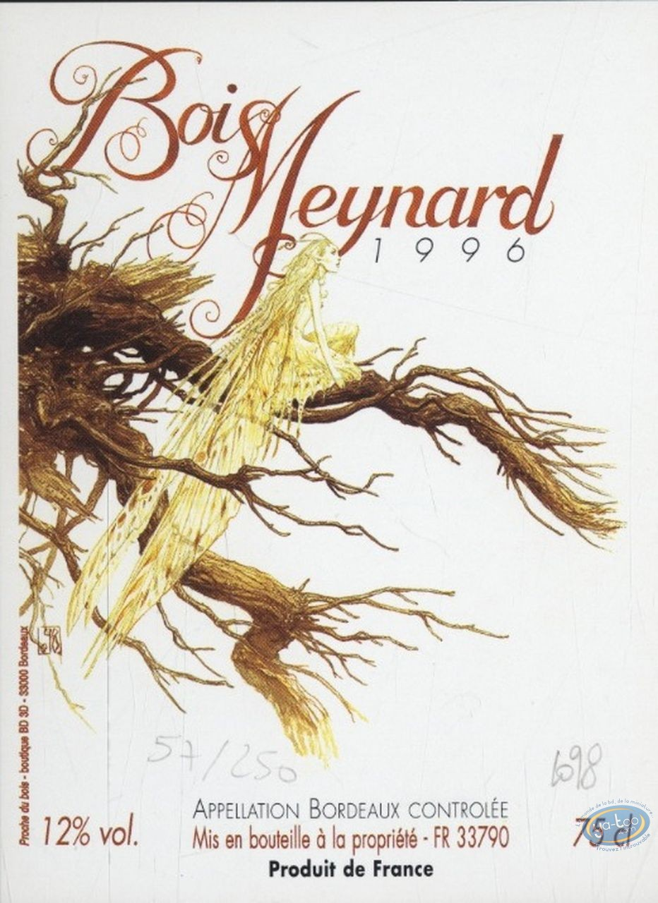 Wine Label, Fairy in a Tree - Bois Meynard 1996