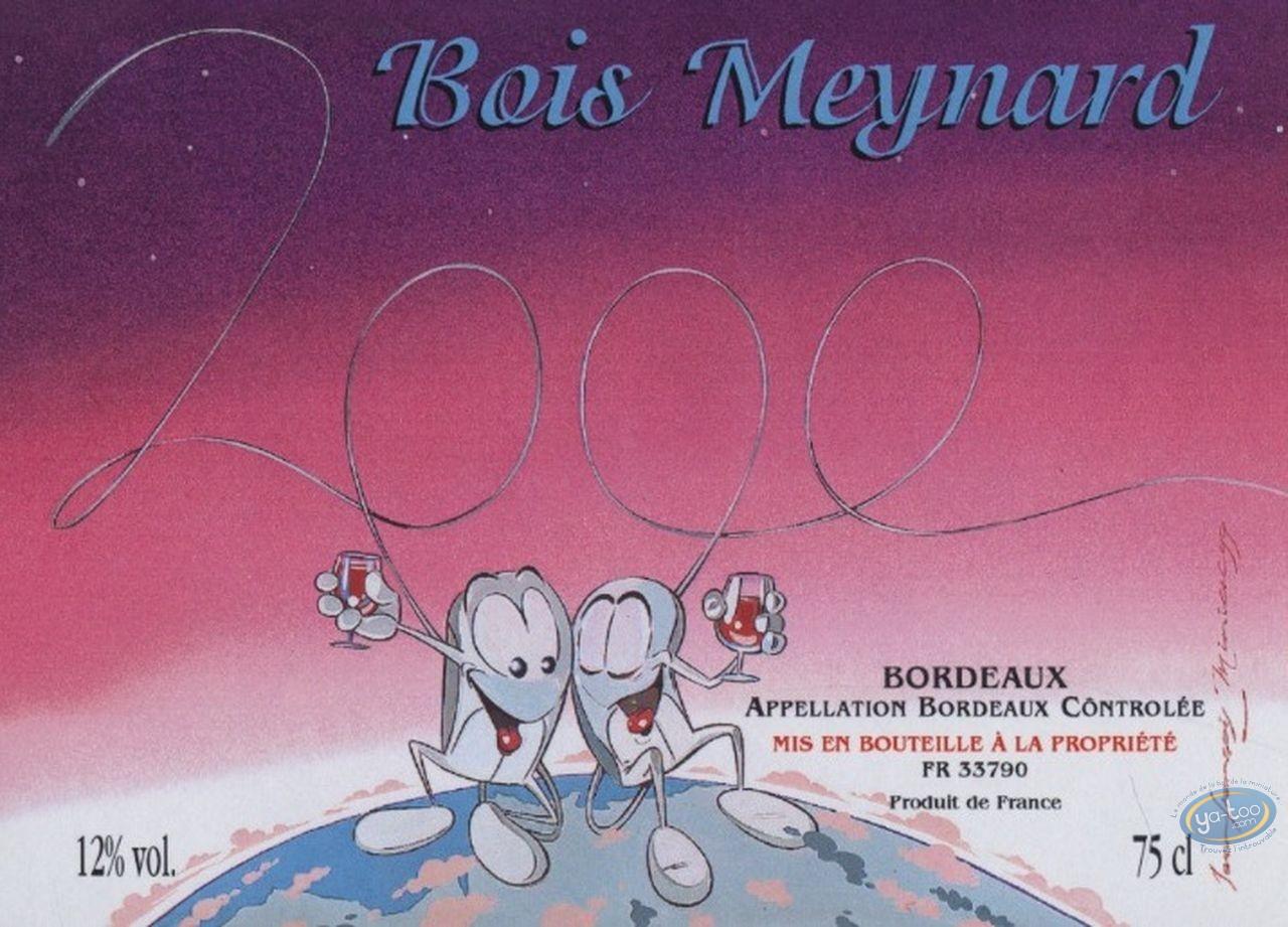Wine Label, Couple - Bois Maynard 2000