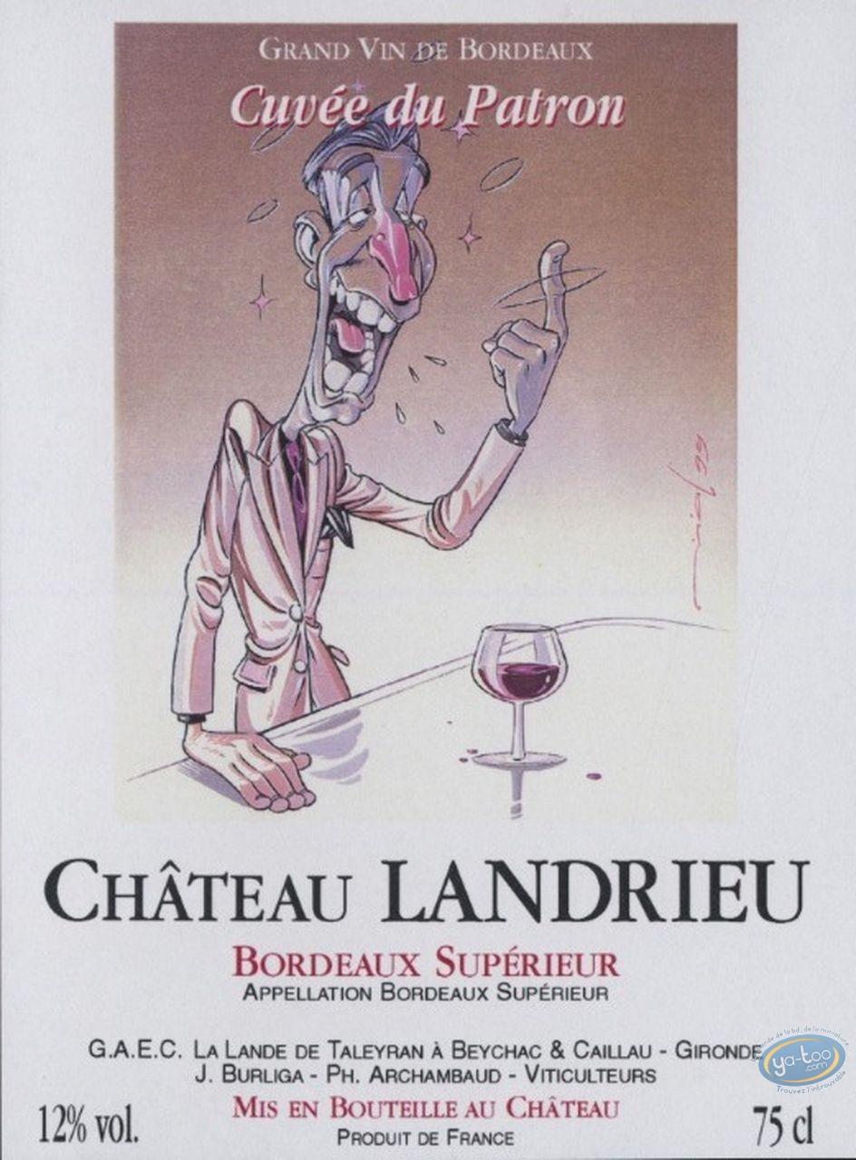 Wine Label, Slim - Chateau Landrieu