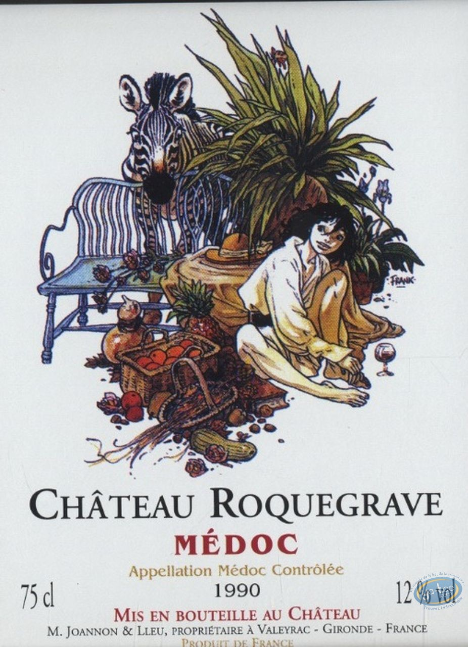Bookplate Offset, Zoo : Zoo - Chateau Roquegrave 1990