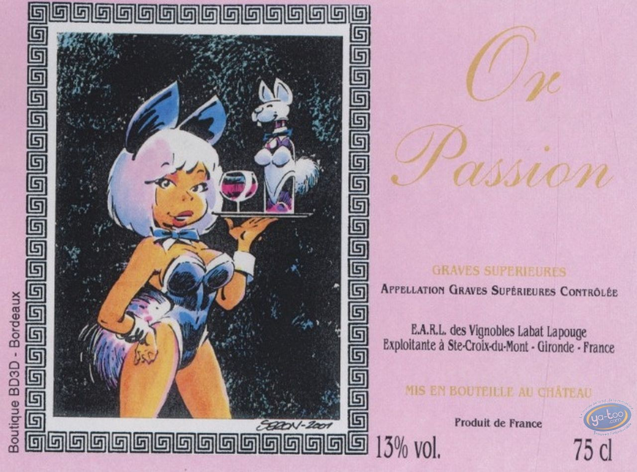Wine Label, Petits Hommes (Les) : Les petits hommes - Bunny girl - Or Passion