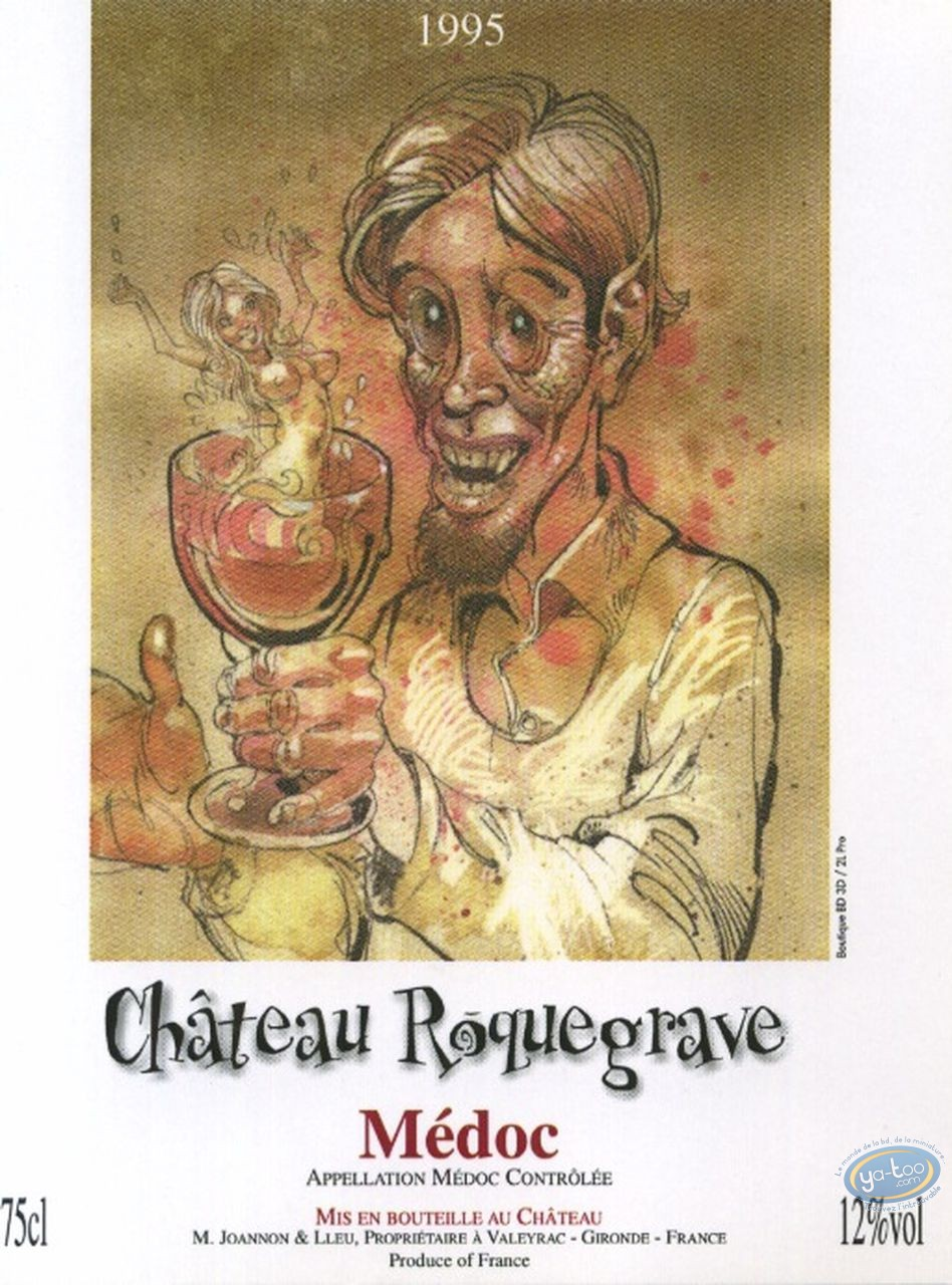 Wine Label, Pin Up - Chateau Roquegrave 1995