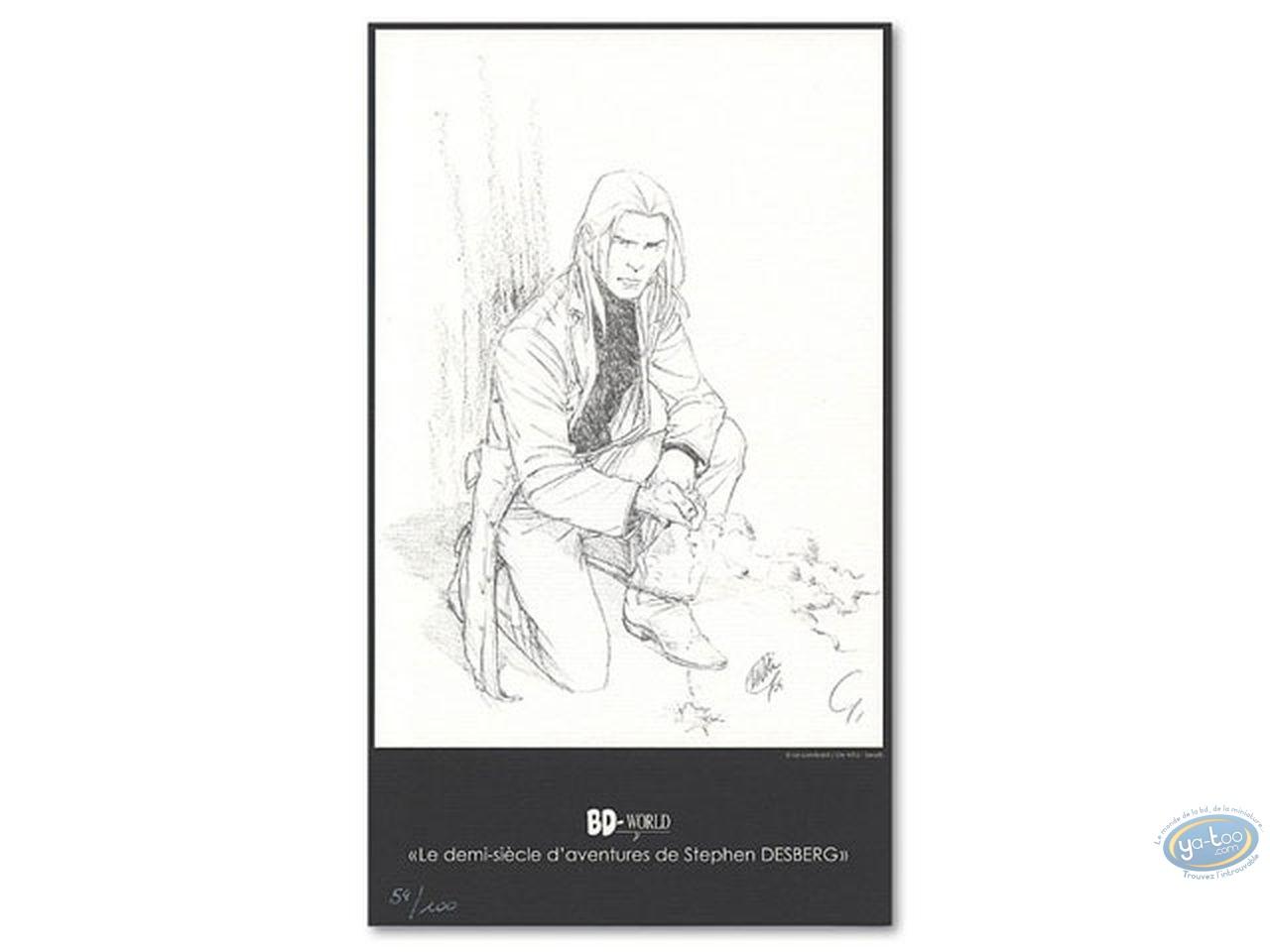 Bookplate Offset, James Healer : James Healer accroupi