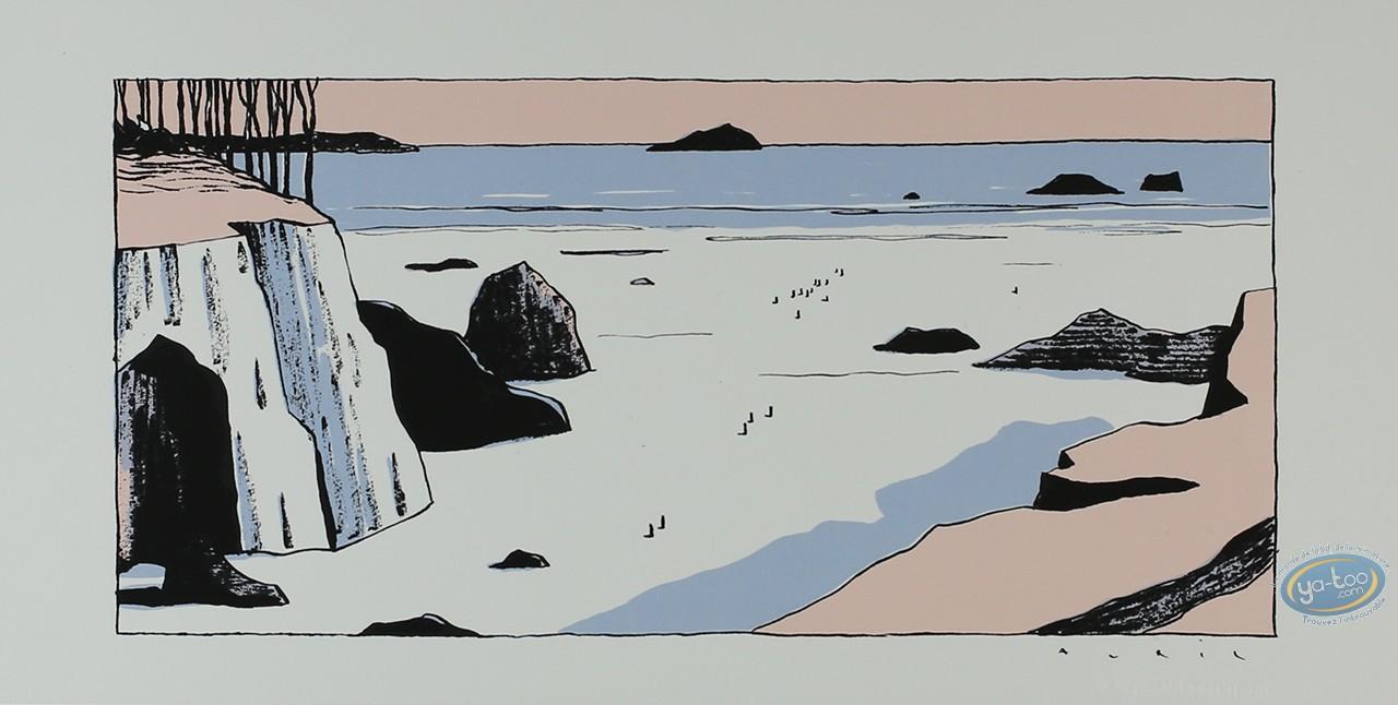 Serigraph Print, Avril : Low tide