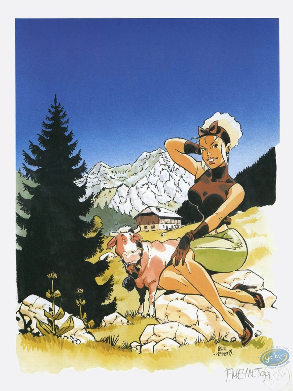 Offset Print, Double M : Mirabelle in the mountains