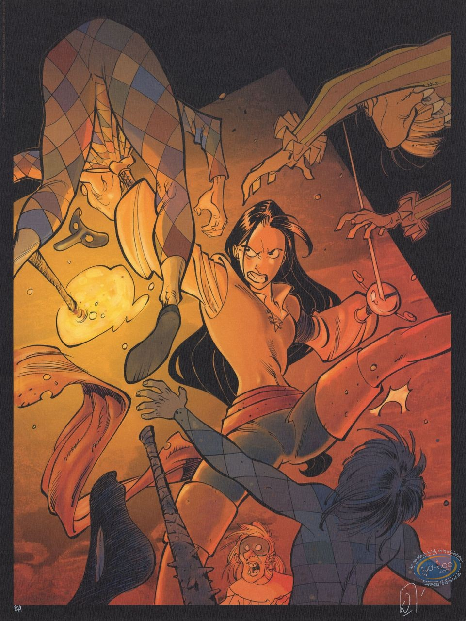 Offset Print, Belladone : Marie fighting