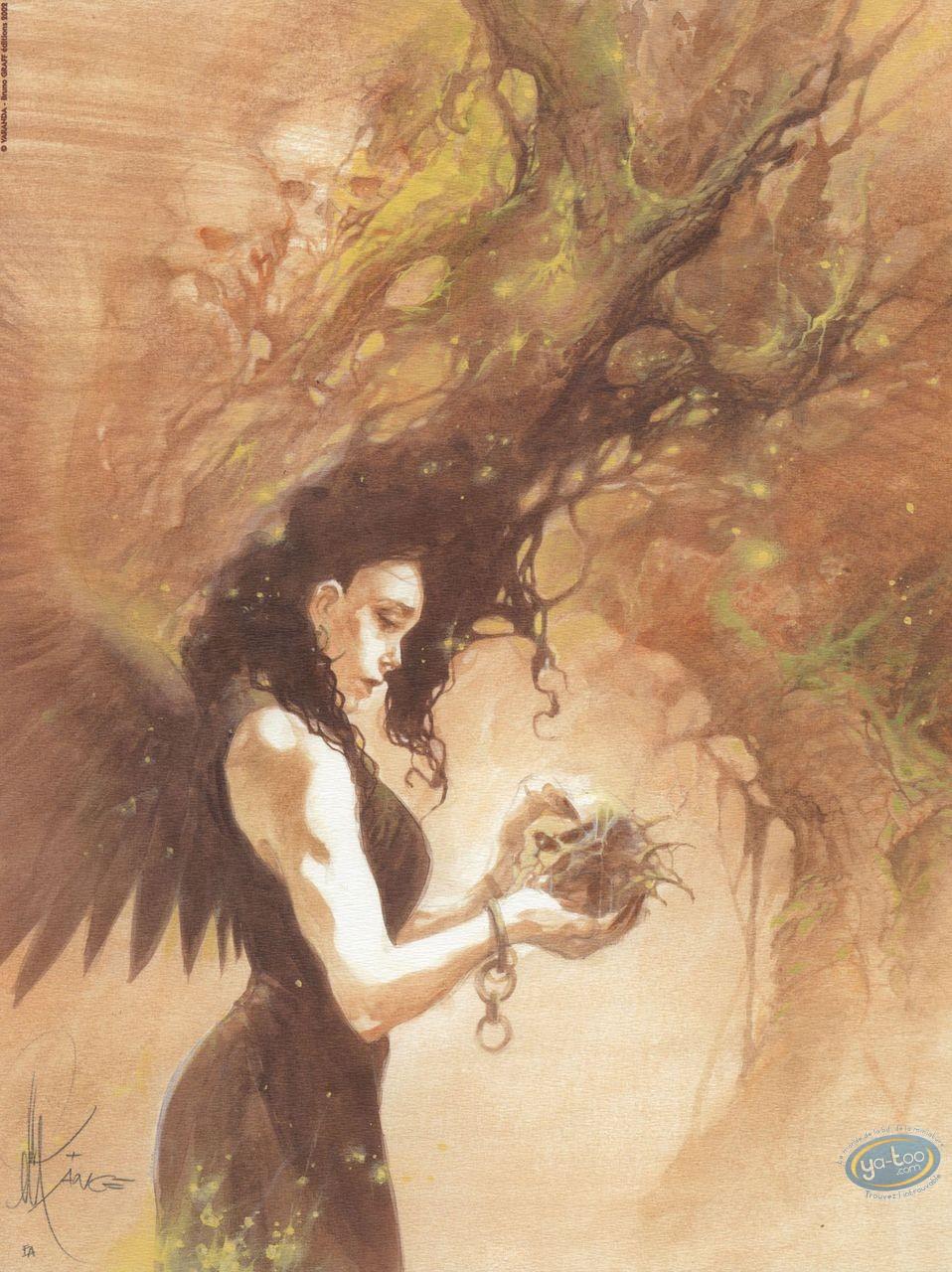 Offset Print, Paradis Perdu : Woman with skull