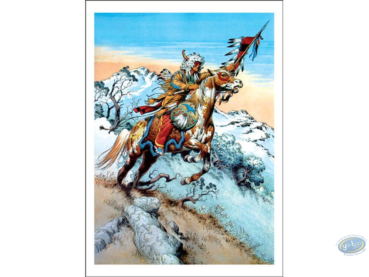 Offset Print, Indian Chief