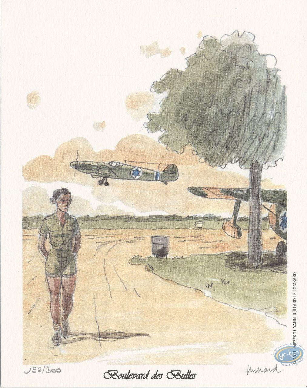 Bookplate Offset, Mezek : walking near the planes