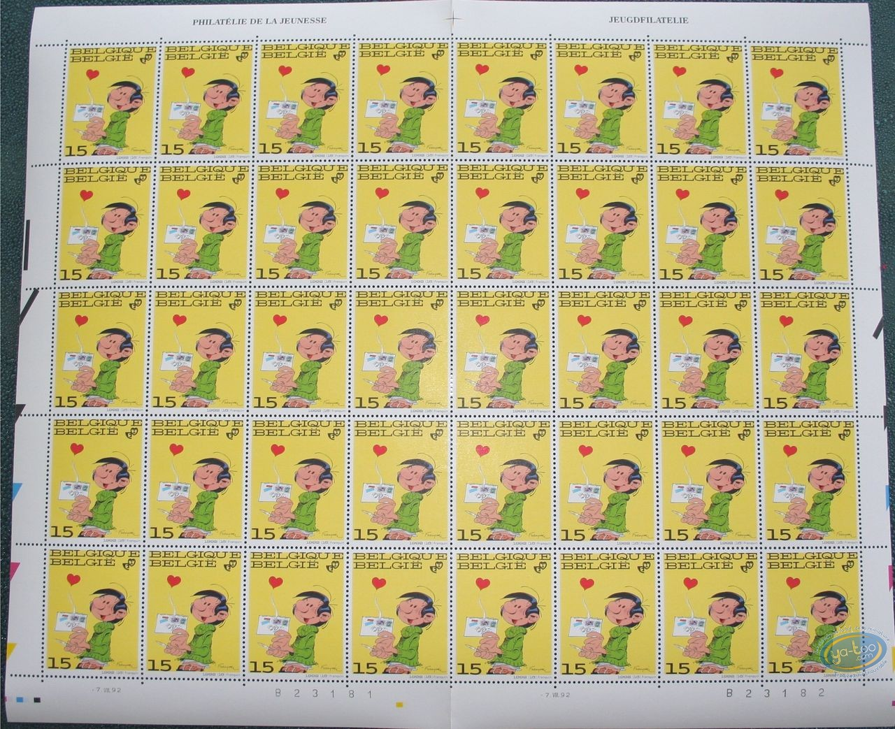 Stamp, Gaston Lagaffe : 40 stamps sheet