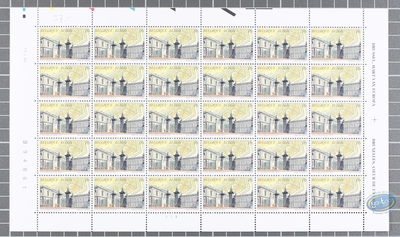 Stamp, Cités Obscures (Les) : 30 Stamps Sheet Le Petit Sablon