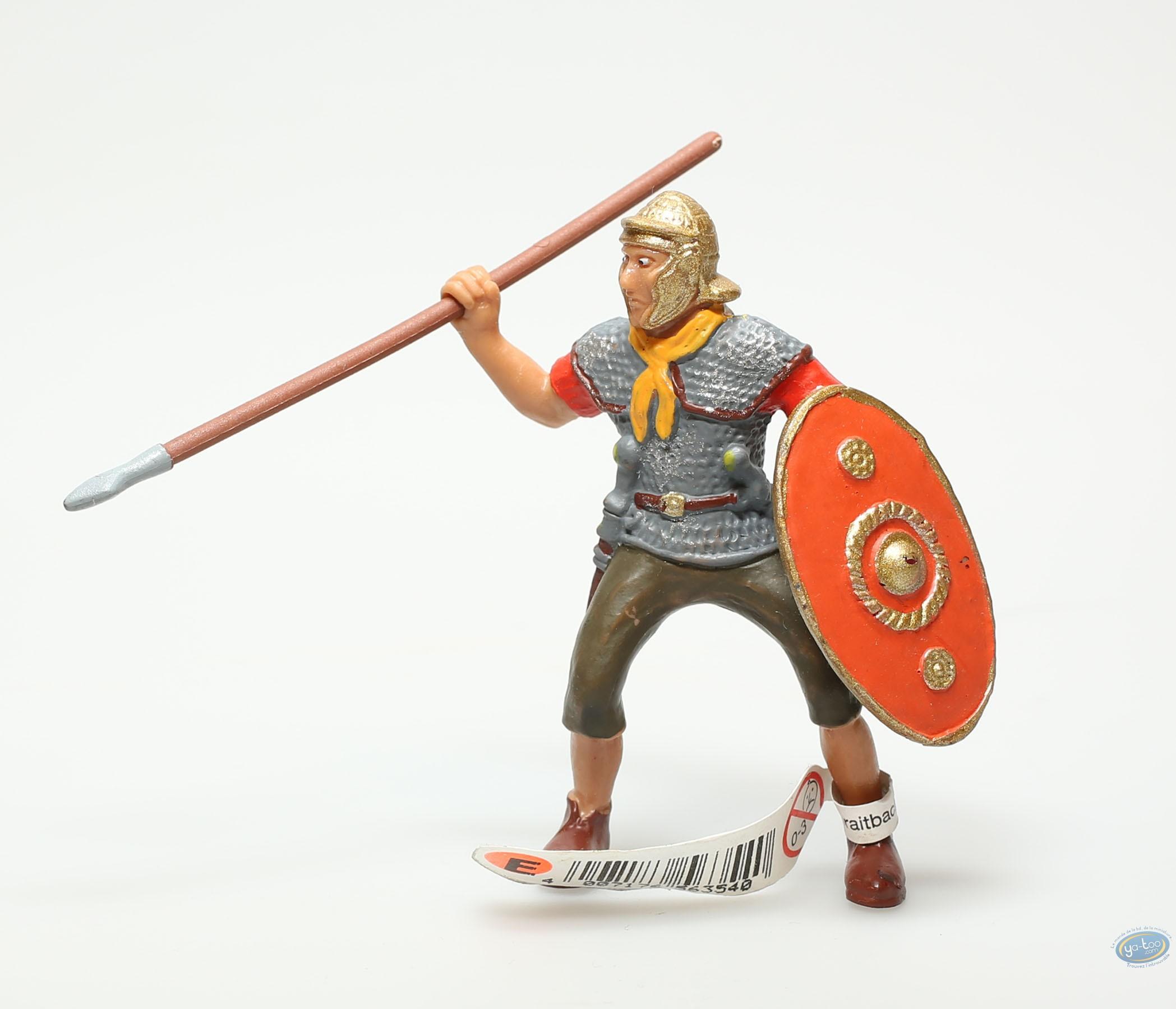 Plastic Figurine, Plastic figure, Antiques : Legionnaire with spear