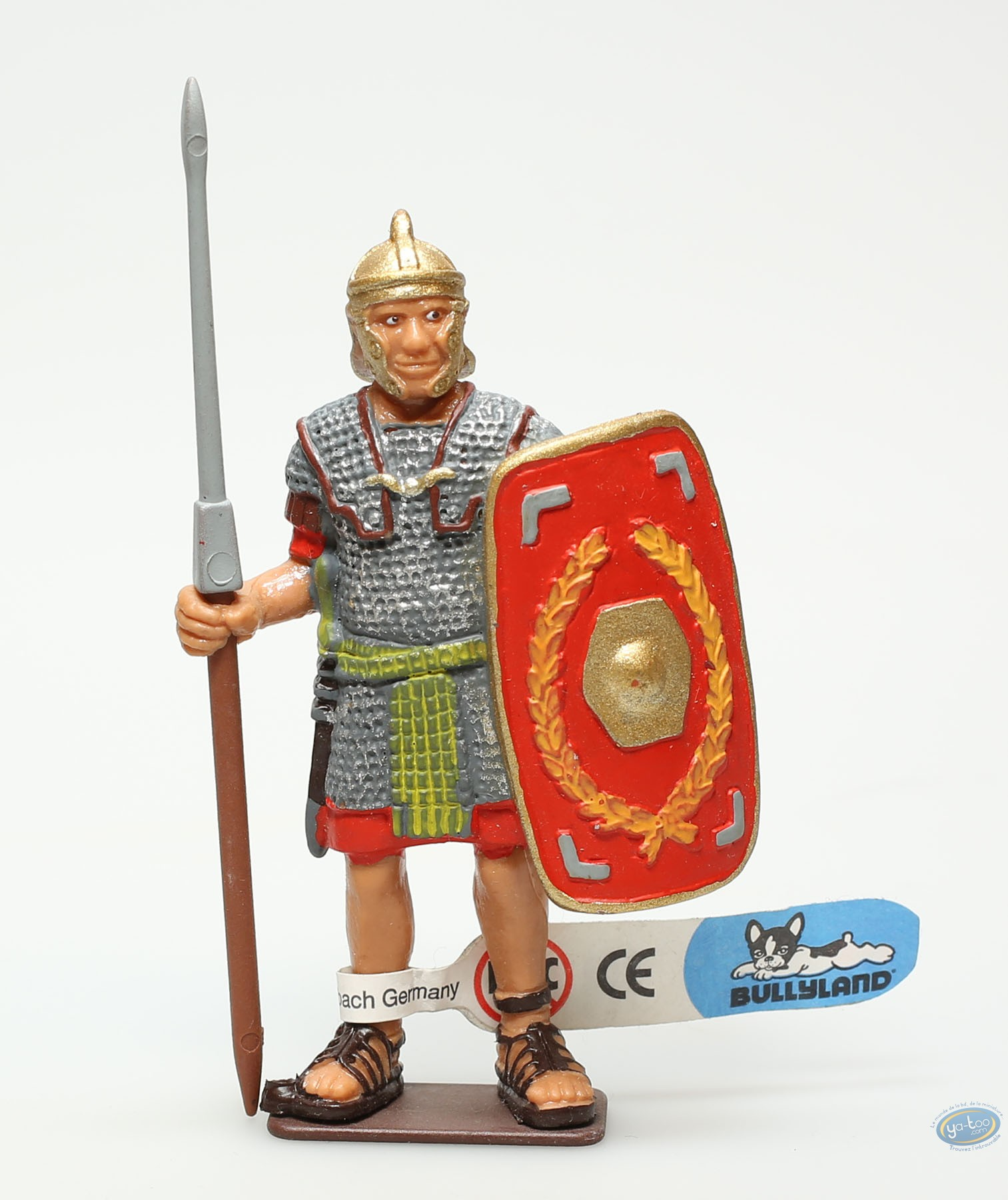 Plastic Figurine, Plastic figure, Antiques : Upstanding legionnaire with brown spear