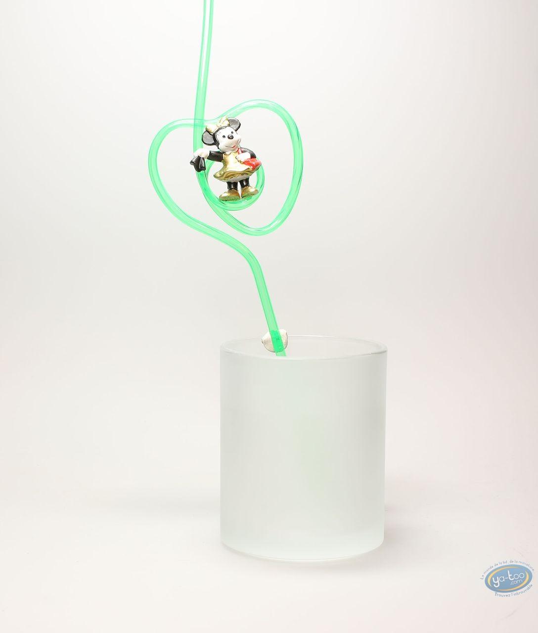 Tableware, Mickey Mouse : Straw, Minnie gold dress, Disney