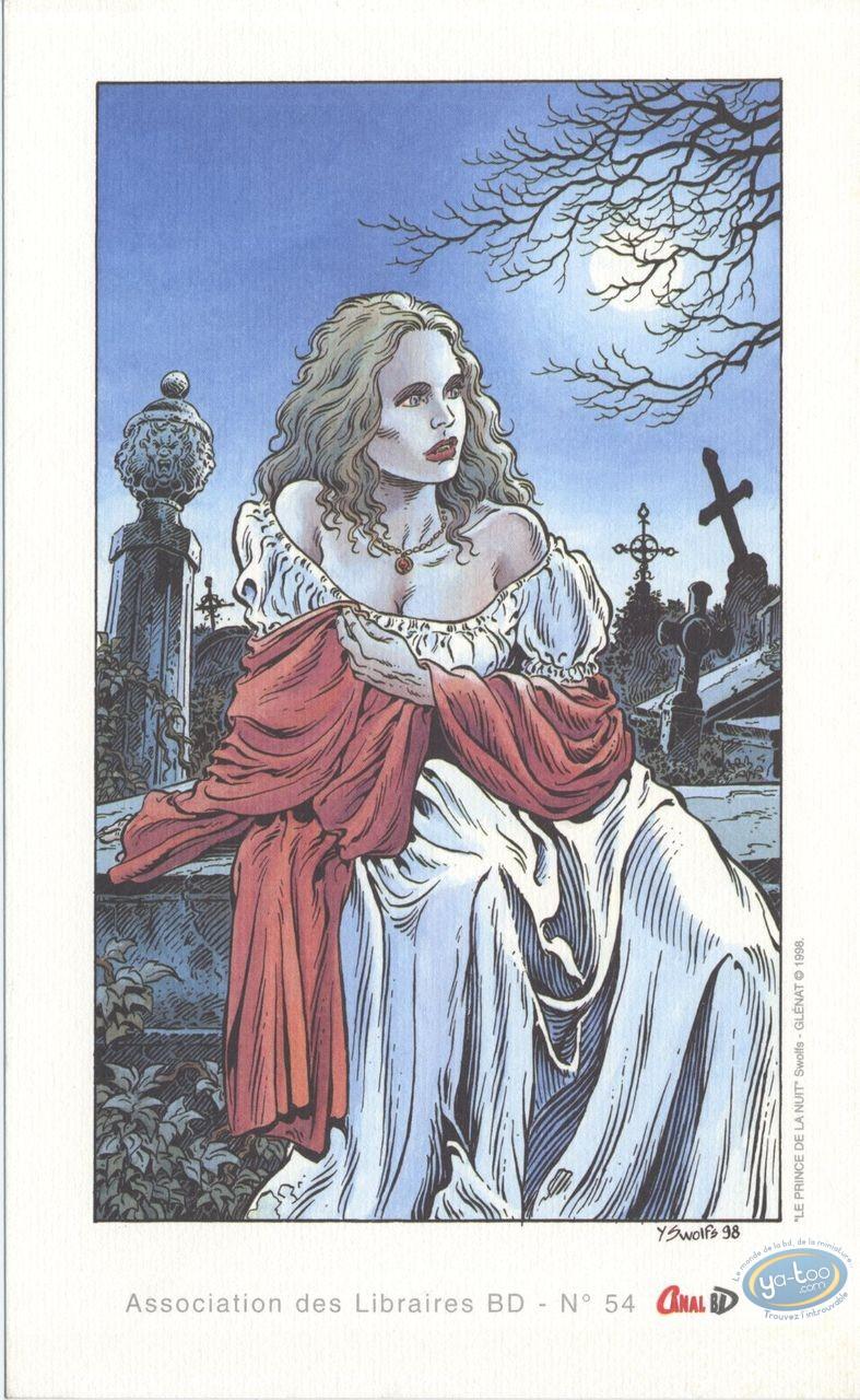 Bookplate Offset, Prince de la Nuit (Le) : Elise in the Cemetery