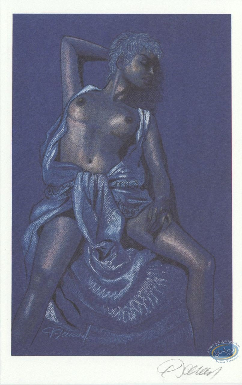 Bookplate Offset, Jessica Blandy : Half Naked (blue)