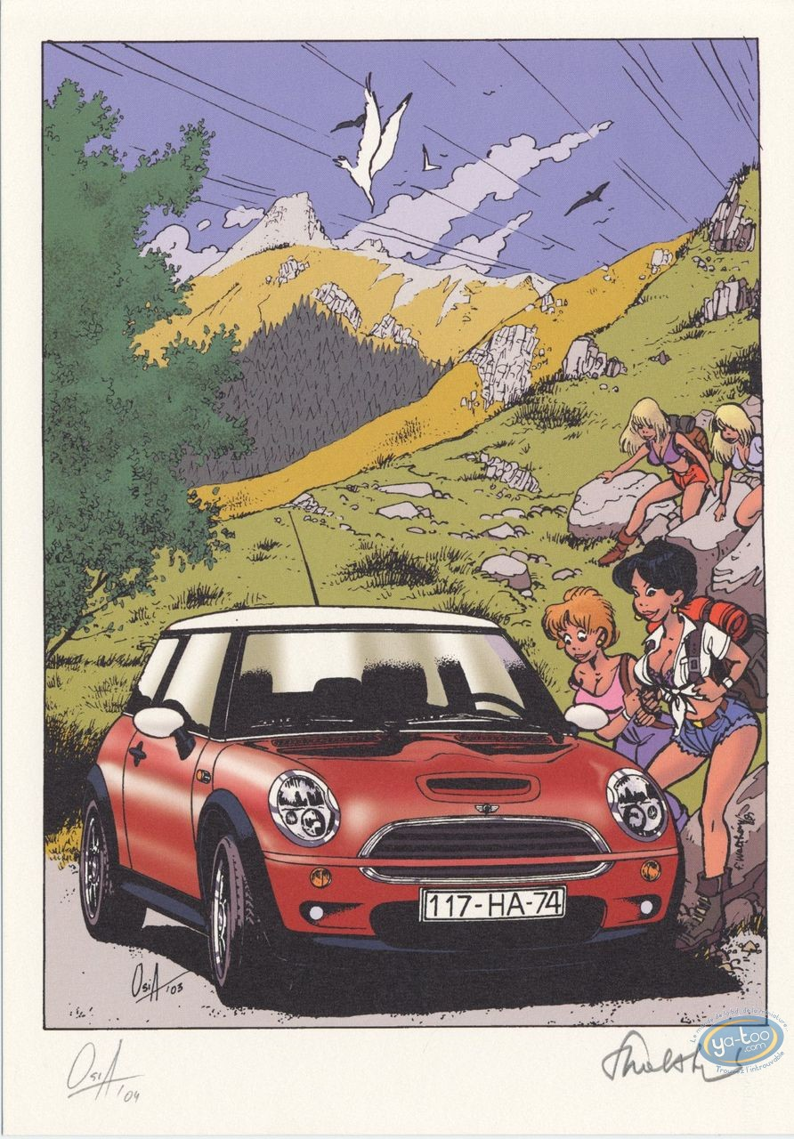 Bookplate Offset, Pin-Up : Mini