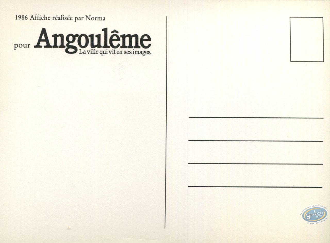 """Post Card, Show Angoulême """" The city which lives in its drawings """""""