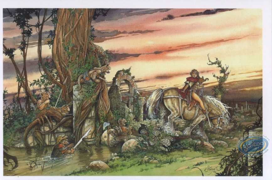 Post Card, Rencontres : Rider followed by gnomes in bit