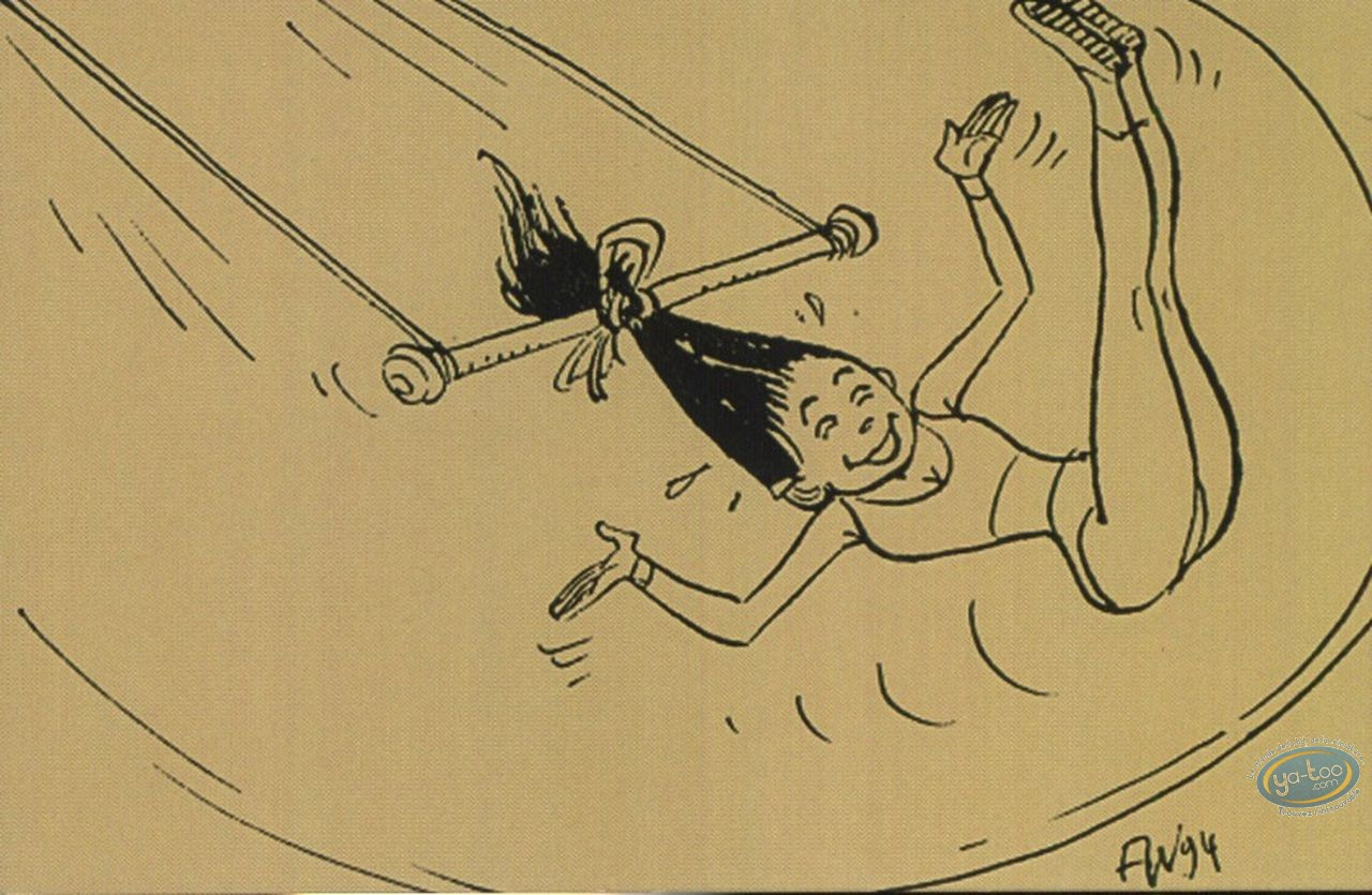 Post Card, Stars of the circus - The trapeze artists