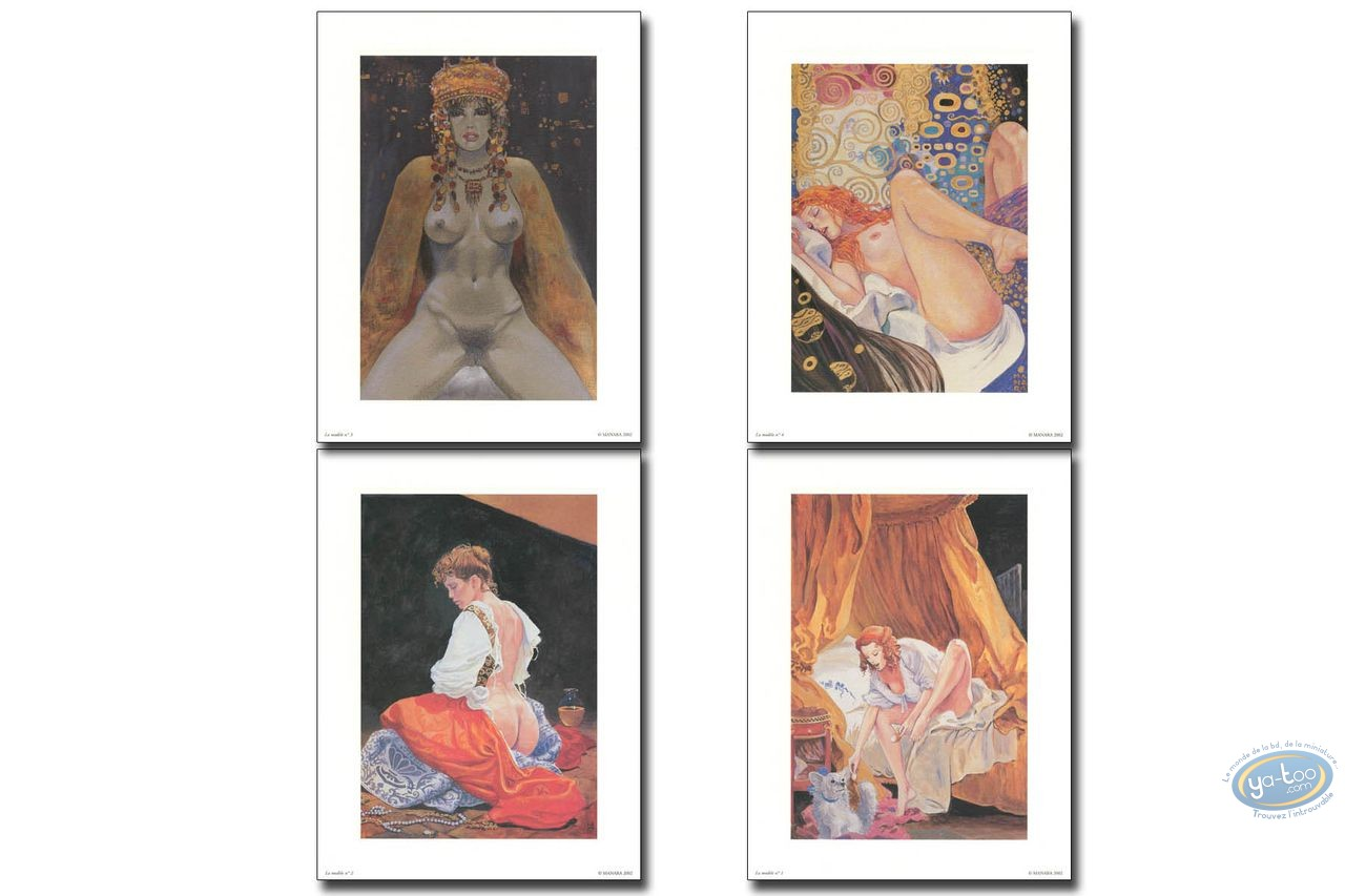 Offset Print, Manara : The Model N°1 to 4