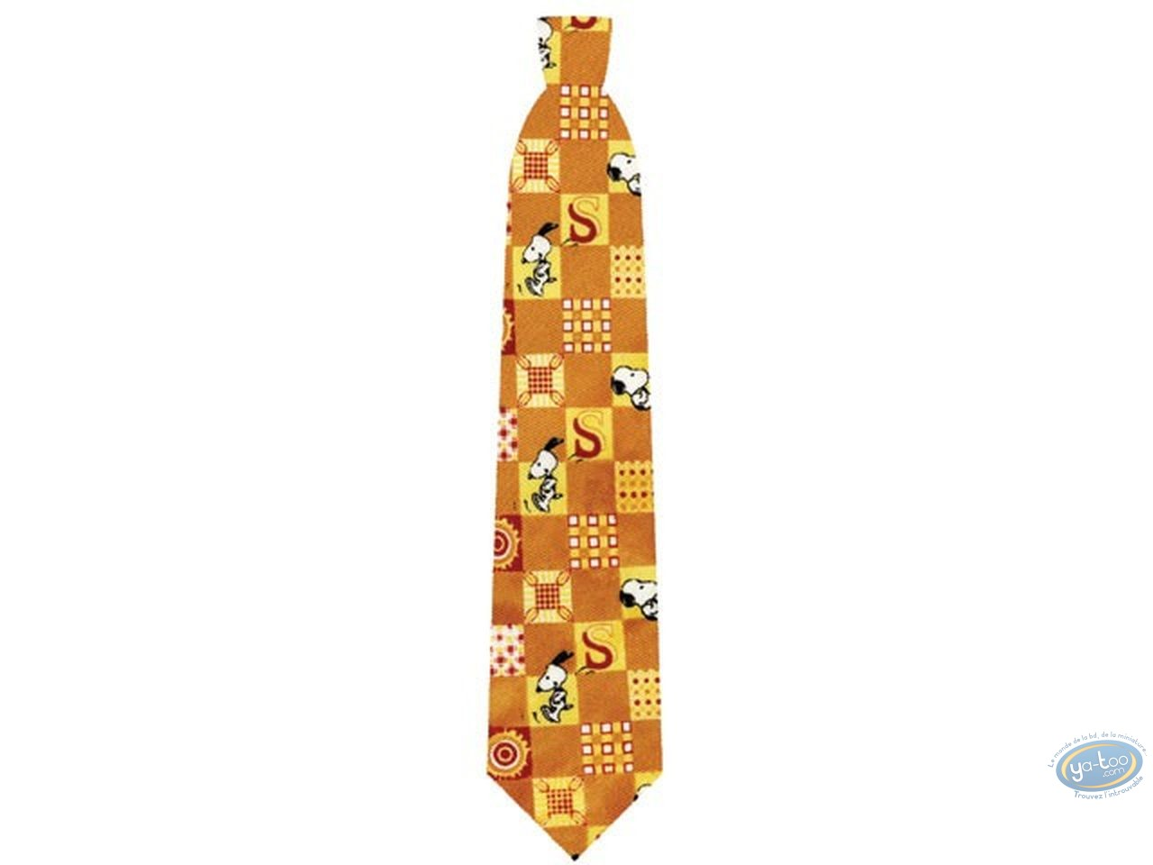 Clothes, Snoopy : Snoopy orange square tie