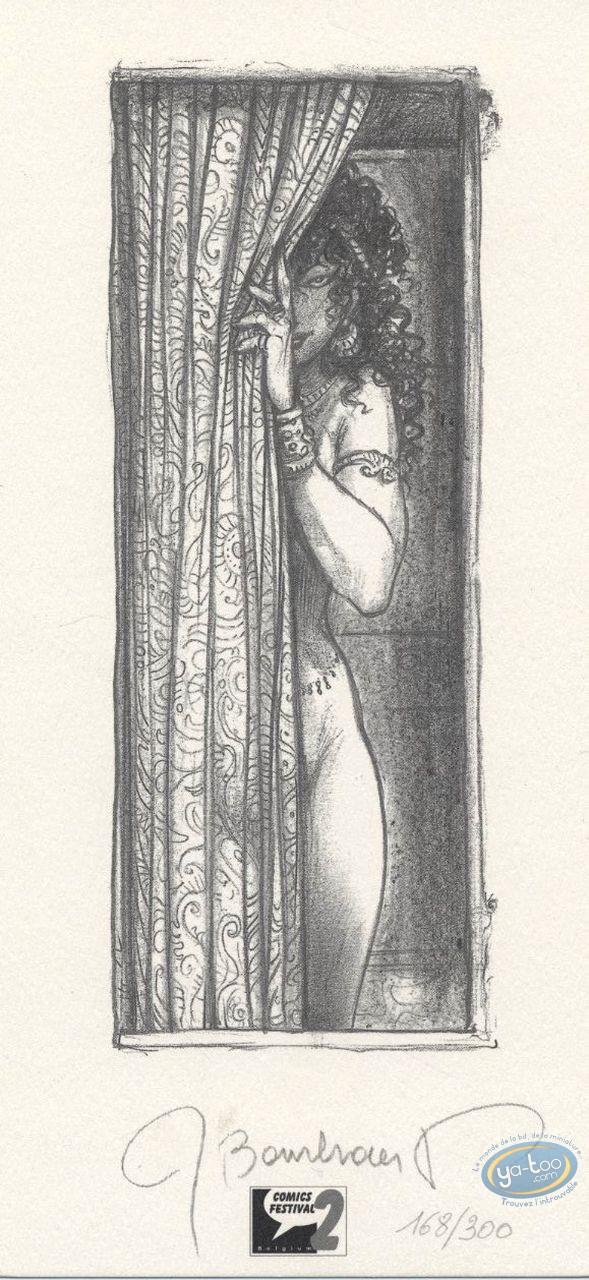 Bookplate Offset, Jaguar : Woman behind the Curtain