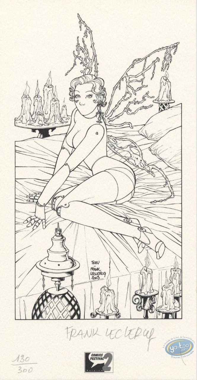 Bookplate Offset, Fées et Tendres Automates : Fairy without mouth b&w