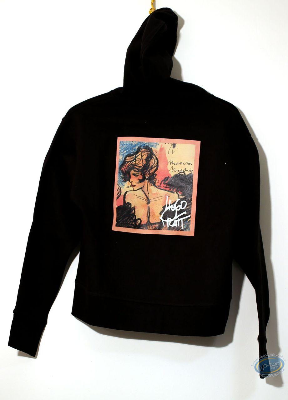 Clothes, Corto Maltese : Sweat-shirt, Corto Maltese : Hood Black 04-03 size S