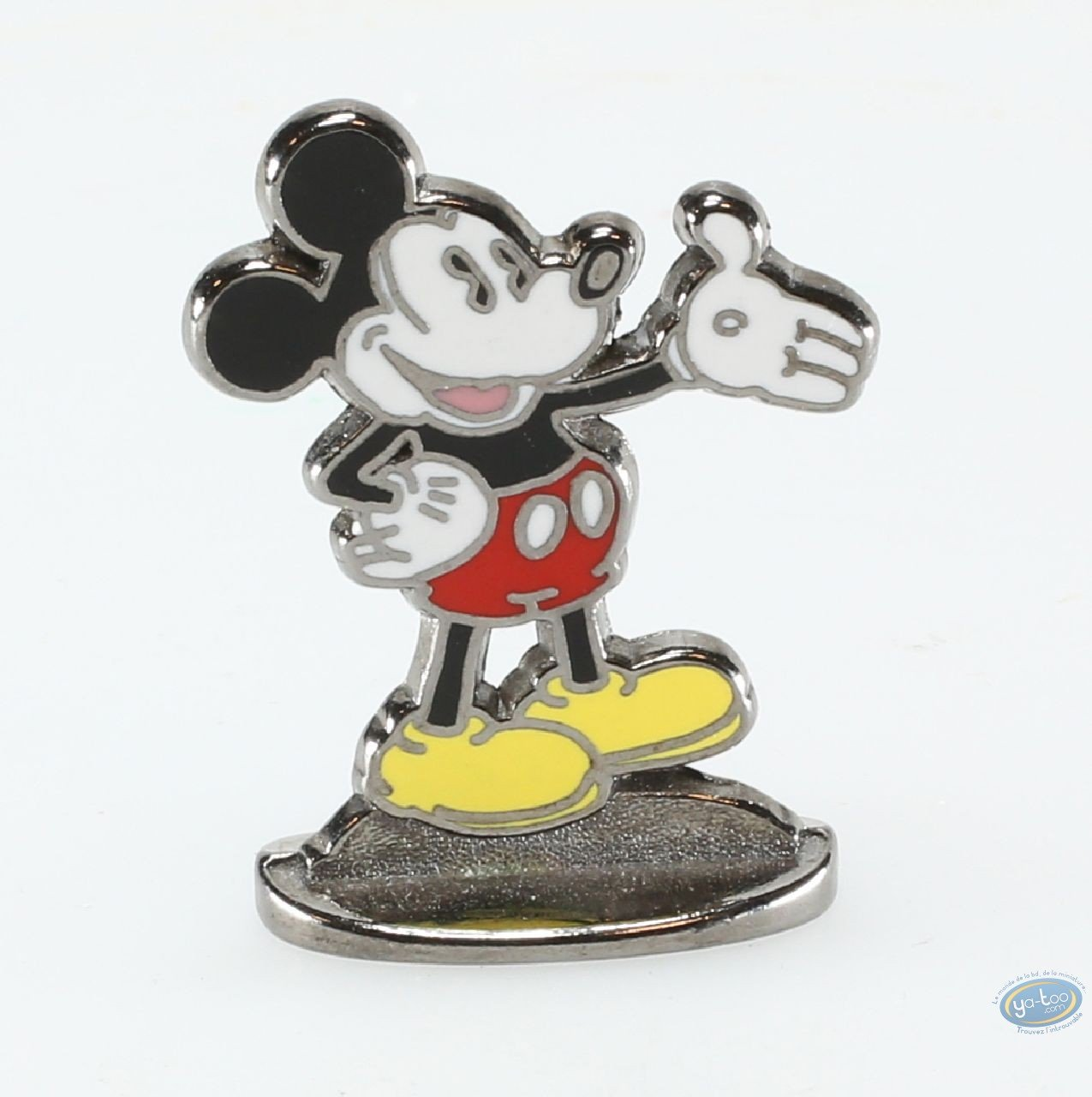 Metal Figurine, Mickey Mouse : The Blue Lotus ( bas relief), Disney