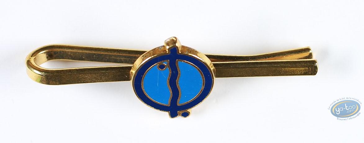 Clothes, Tintin : Metal tie clip Tintin, Cigares of the Pharao blue