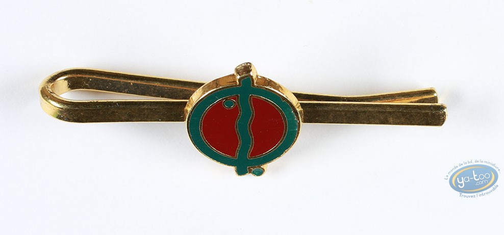 Clothes, Tintin : Metal tie clip Tintin, Cigares of the Pharao green an red