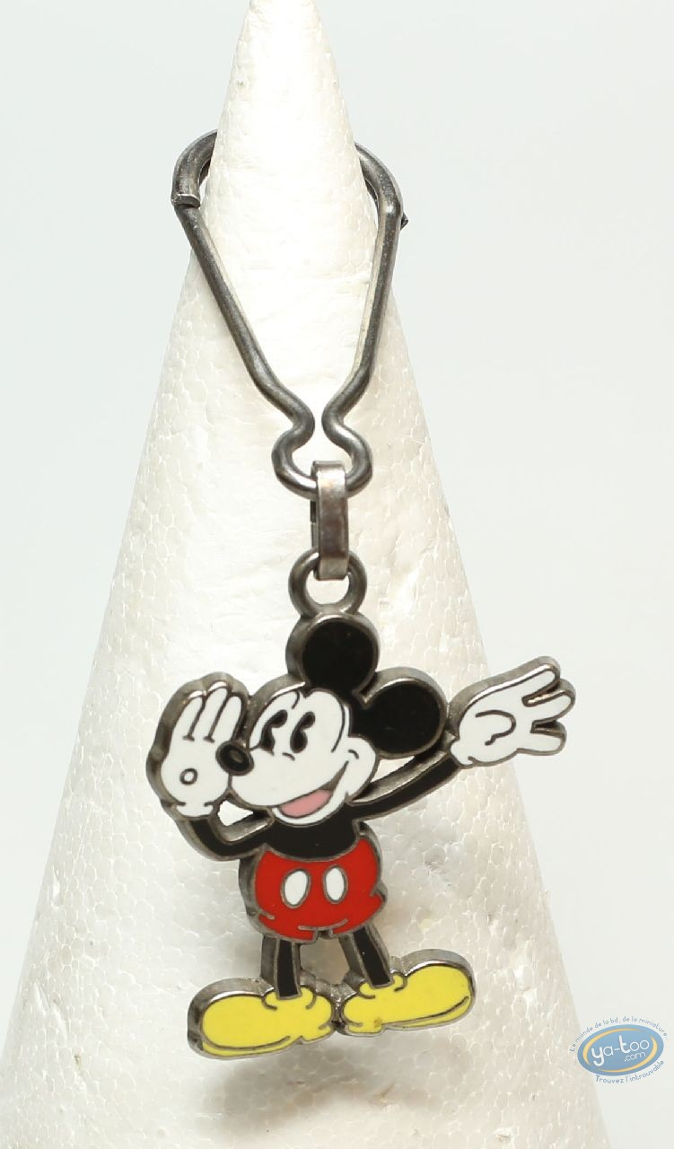 Metal Keyring, Mickey Mouse : Mickey waving both hands ( bas relief), Disney