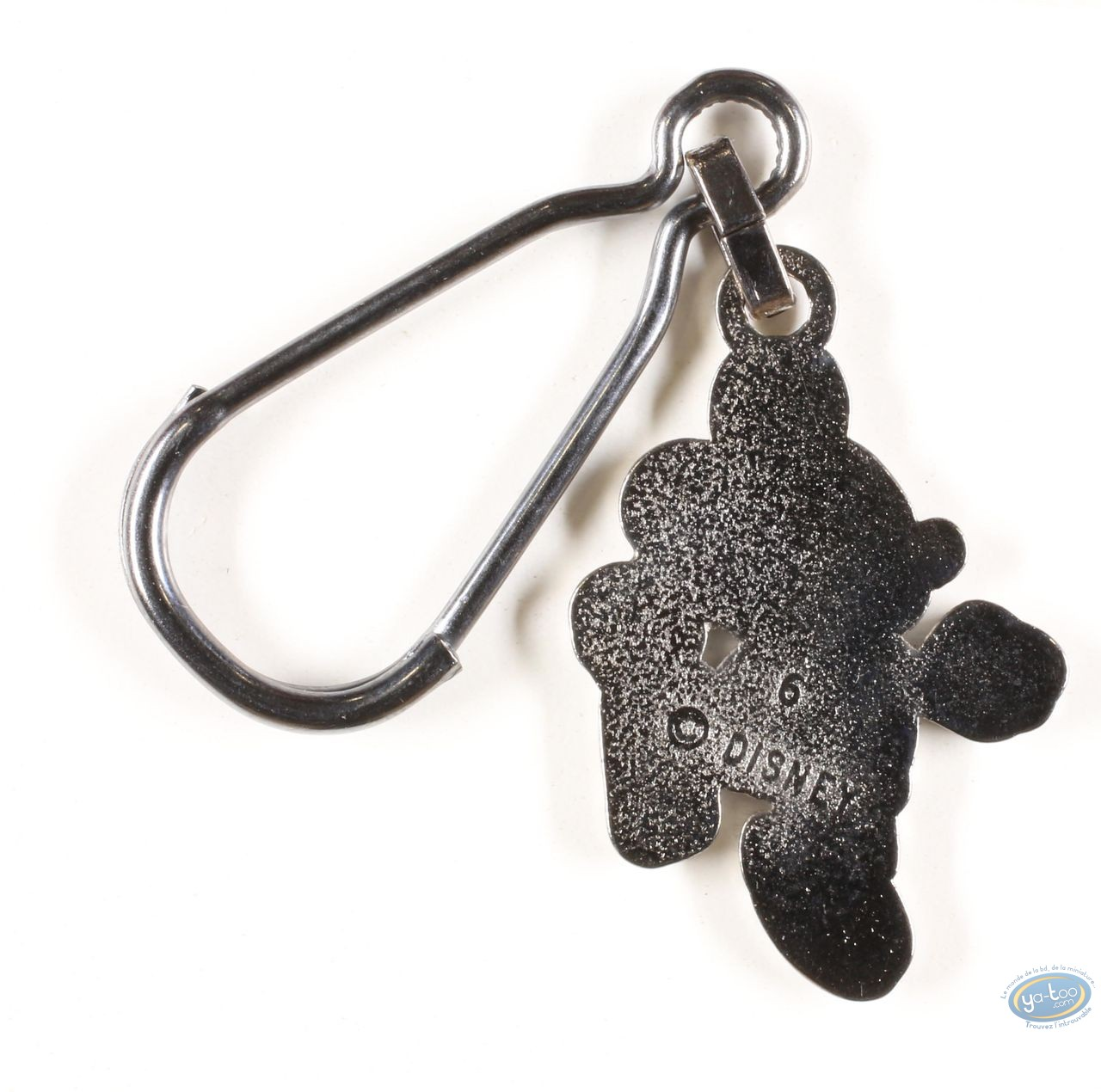 Metal Keyring, Mickey Mouse : Mickey hands on hips ( bas relief), Disney