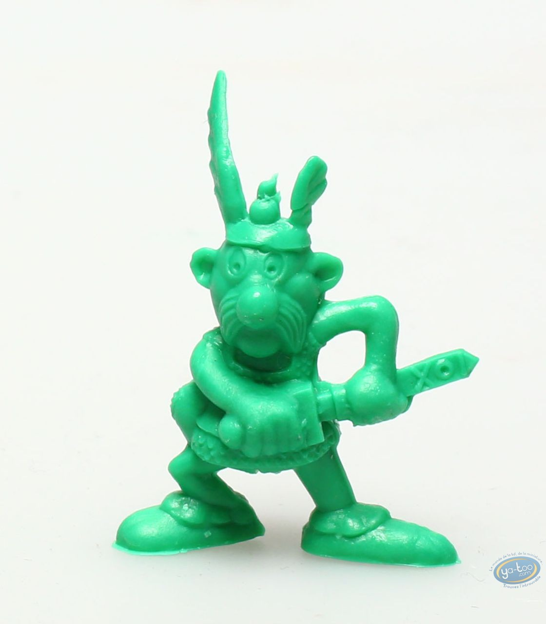 Plastic Figurine, Astérix : Mini Asterix pulling his sword out (dark green)