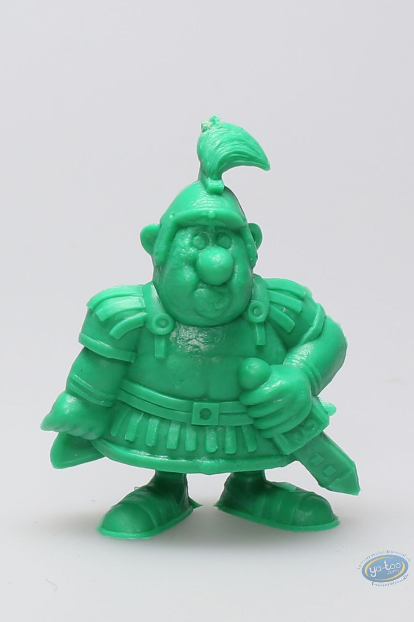Plastic Figurine, Astérix : Mini Centurion hand on the sword (green)