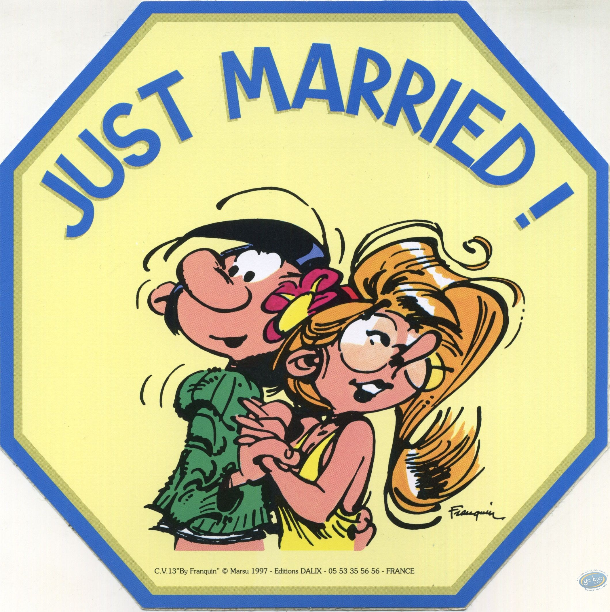 Sticker, Gaston Lagaffe : Just married!