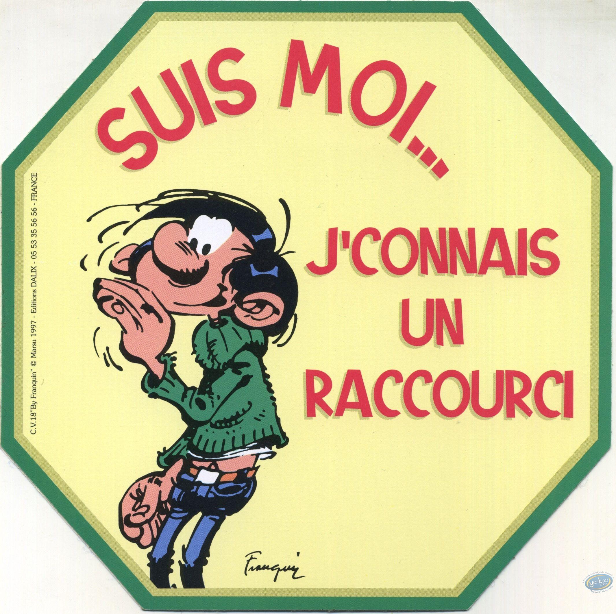 Sticker, Gaston Lagaffe : Follow me... I know a shortcut