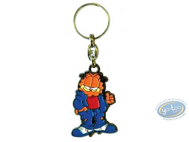 Metal Keyring, Garfield : Metal key ring, Davis, Garfield : Garfield Jeans