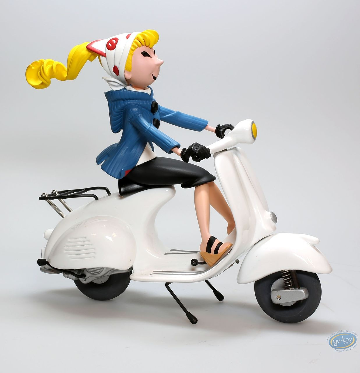 European comic strip vehicle, Spirou and Fantasio : Seccotine with scooter, Michel Aroutcheff