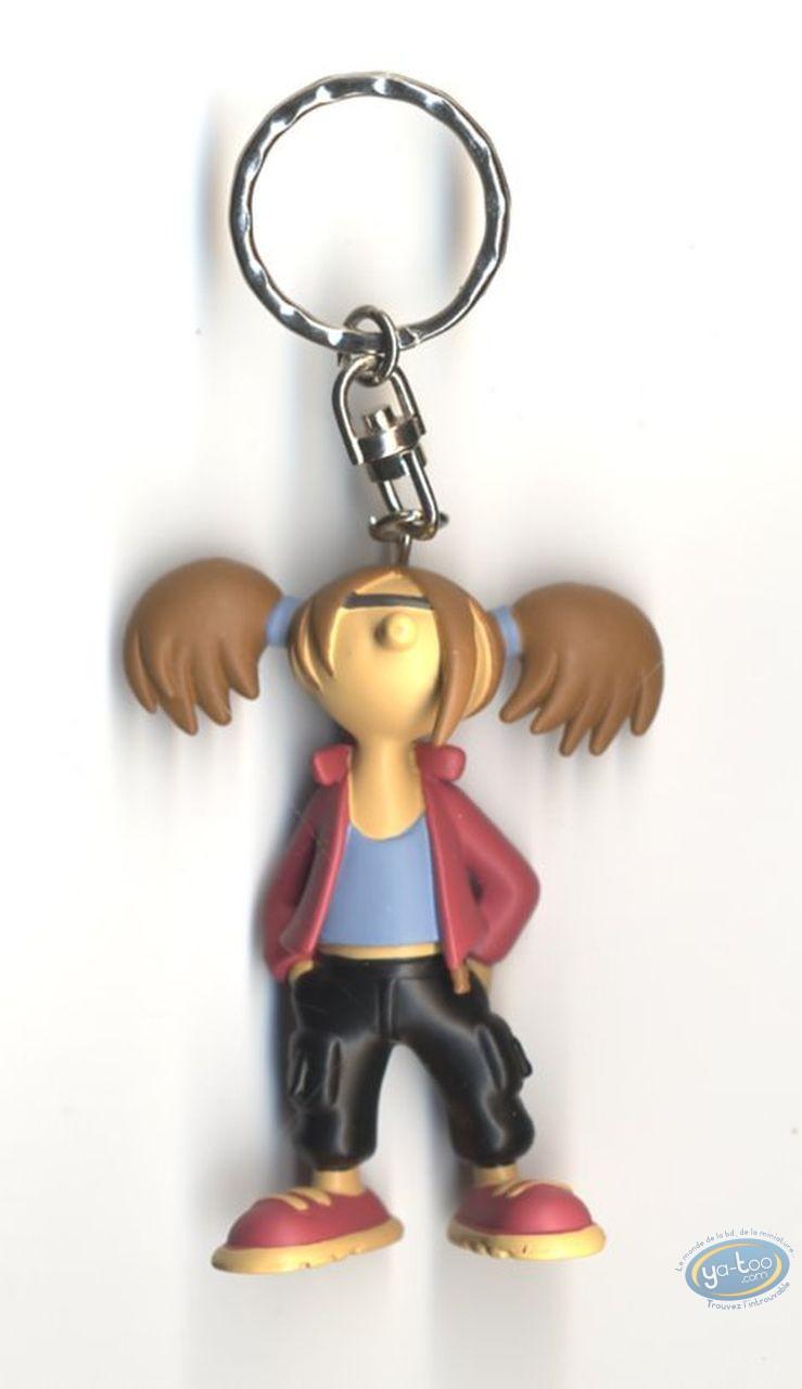PVC Keyring, Lili Varicelle : Key ring, Lili Varicelle (black trousers)