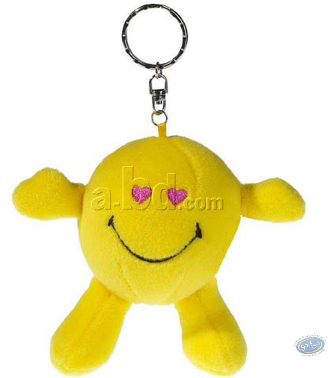 Keyring, Smiley : Plush Key ring, Smiley heart