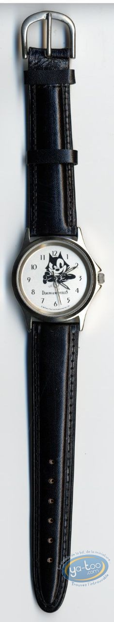 Clocks & Watches, Félix le Chat : Watch Felix the Cat leather strap