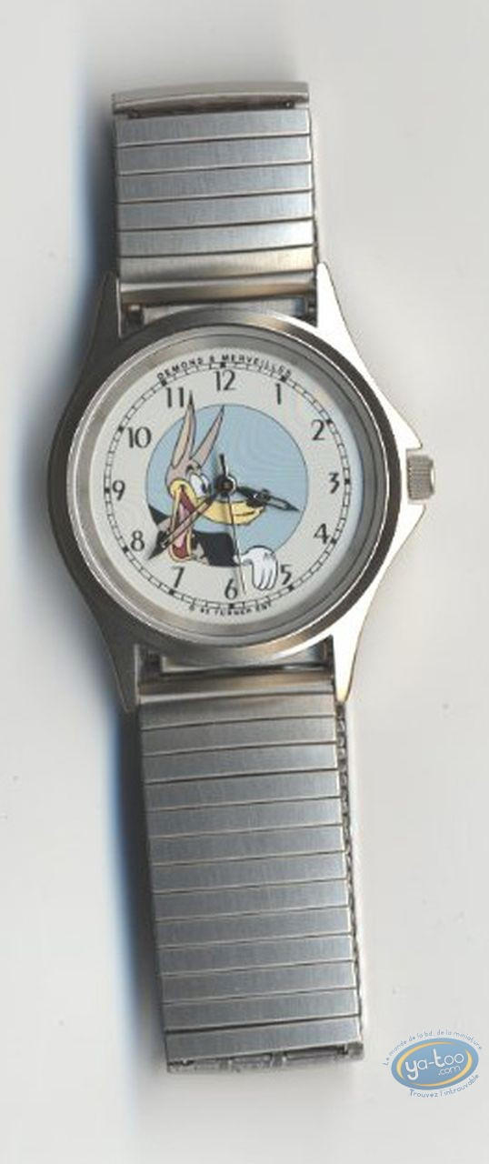 Clocks & Watches, Loup (Le) : Watch Tex Avery The Wolf bracelet metal strap