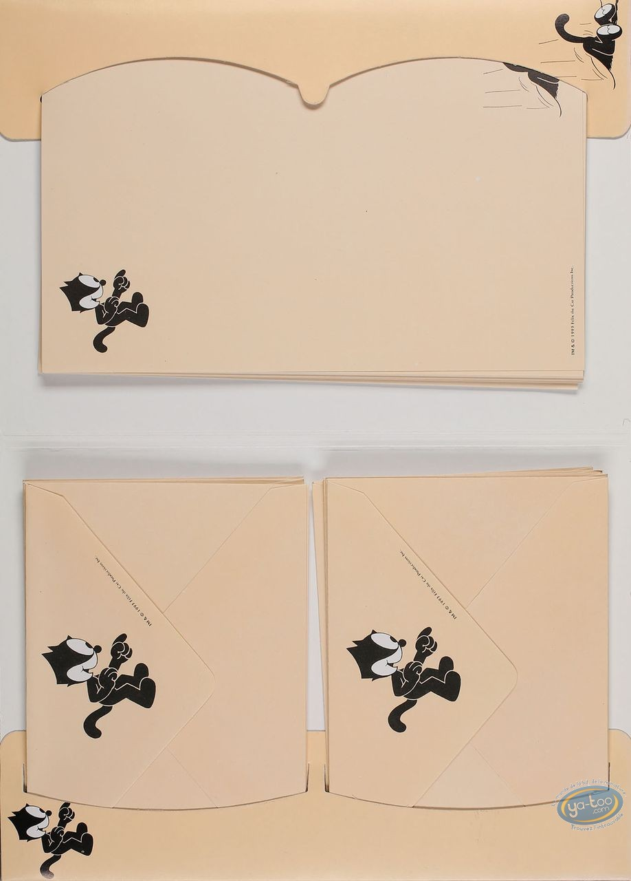 Office supply, Félix le Chat : Stationery with envelopes, Felix The Cat (peach)