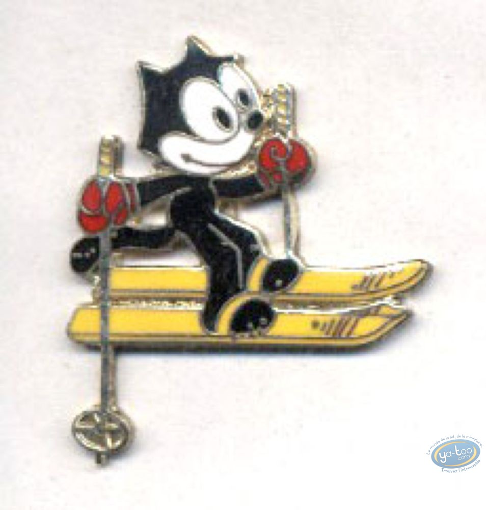 Pin's, Félix le Chat : Felix the Cat skis